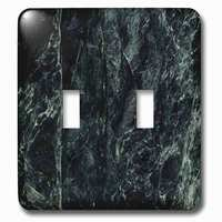 Jazzy Wallplates - Marble - Double Toggle Wallplate With Impress Green Marble Print