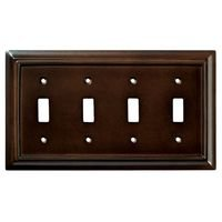 Liberty Hardware - Switchplates II - Wood Quadruple Toggle in Espresso