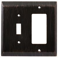 Liberty Hardware - Switchplates - Combo Single Toggle GFI/Rocker in Venetian Bronze
