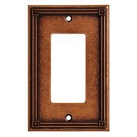 Liberty Hardware - Switchplates I - Single GFI/Rocker in Sponged Copper