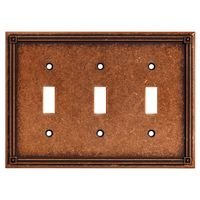 Liberty Hardware - Switchplates I - Triple Toggle in Sponged Copper