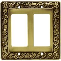 Liberty Hardware - Switchplates I - Double GFI/Decora in Tumbled Antique Brass