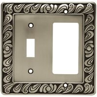 Liberty Hardware - Switchplates I - Combo Single Toggle GFI/Decora in Brushed Satin Pewter