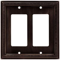 Liberty Hardware - Switchplates II - Double GFI/Rocker in Venetian Bronze