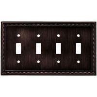 Liberty Hardware - Switchplates II - Quadruple Toggle in Venetian Bronze