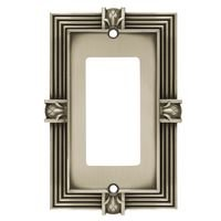 Liberty Hardware - Complete Home French Pineapple - Single Rocker/GFI Switchplate in Brushed Satin Pewter