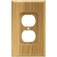 Liberty Hardware - Switchplates I - Single Duplex Outlet in Medium Oak