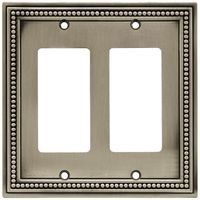 Liberty Hardware - Switchplates II - Double GFI/Rocker in Brushed Satin Pewter