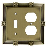 Liberty Hardware - Switchplates I - Combo Single Toggle Single Outlet in Antique Brass