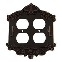 Nostalgic Warehouse - Victorian - Double Duplex Switchplate in Timeless Bronze