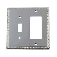 Nostalgic Warehouse - Egg & Dart - Toggle/Rocker Switchplate in Bright Chrome
