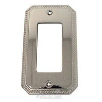 Omnia Industries - Switchplates - Beaded Single Rocker Cutout Switchplate in Polished Chrome