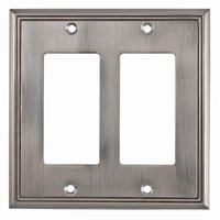 Richelieu Hardware - Switchplates - Contemporary Double GFI/Decora in Brushed Nickel