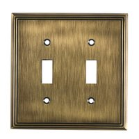 Richelieu Hardware - Switchplates - Contemporary Double Toggle in Antique English