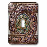Jazzy Wallplates - Abstract - Single Toggle Switch Plate With Photo Of Mosaic Wall Décor, Marrakesh, Morocco