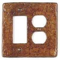 Soko - Wall Plate Cover - Rocker/Duplex (electrical) Style Double Plate Cover in Antique