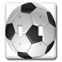 Jazzy Wallplates - Sports - Double Toggle Wallplate With Soccer Ball