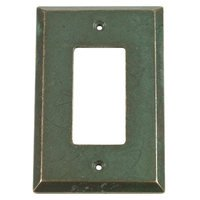 Verona Bronze Switchplates - Verona Wallplate - Single Rocker Switchplate in Verde Imperiale