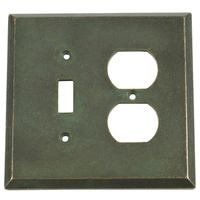 Verona Bronze Switchplates - Verona Wallplate - Single Toggle Single Duplex Combo Outlet Switchplate in Verde Imperiale