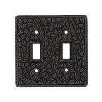 Vicenza Hardware - San Michele - Double Toggle Switchplate in Satin Nickel