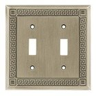 Liberty Hardware - Switchplates - Double Toggle in Brushed Satin Pewter